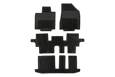 13-18 Nissan Pathfinder Black All Season Weather Rubber Floor Mats Set OEM NEW