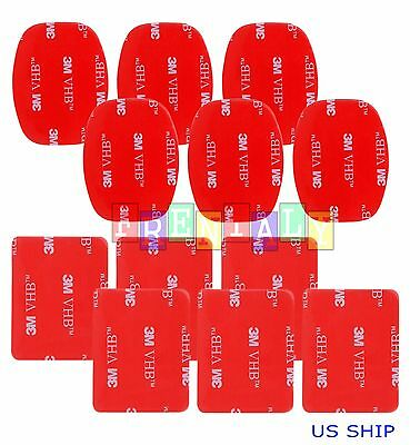 Portable 12pcs Helmet Flat Curved 3M Adhesive Pads for Gopro Hero 1 2 3 4 Mount