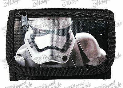 Disney Star Wars The Force Awakens Kids Tri-Fold Wallet Black Stormtrooper
