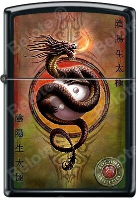 Zippo Anne Stokes Collection Dragon Black Matte Windproof Lighter RARE