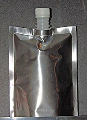 """(10) 6"""" x 7.5"""" x 5"""" Silver Stand Up Spout Bag"""