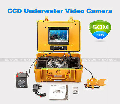 "50M 24 LED 7""Colour LCD Screen Underwater Fishing Video Camera Waterproof System"