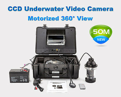 """50M Underwater Video Camera Waterproof System 360°View 7""""Colour LCD Screen"""