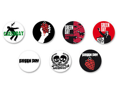 Lot Pack Badge Button Ø25mm Green Day Punk Rock US Groupe Band
