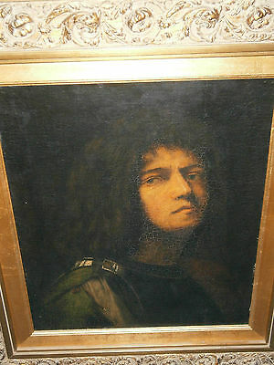 Rare Antique 19Th Century After Giorgione Self Portait As David Old Master Best