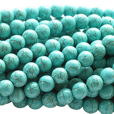 Turquoise Howlite 4mm Round Beads for DIY Jewelry Making PK
