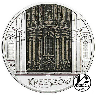 POLAND 20 Zlotych 2010 Krzeszow Silver Proof Coin with ceramic element NUMISHOP