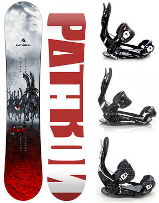 Snowboard Pathron Legend Grey + Rage, Raven oder Pathron Fastec Bindung - Neu!