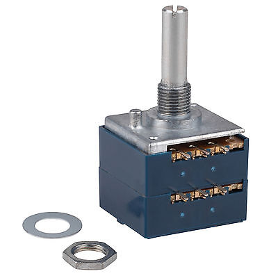 ALPS RK27 100KA Audio Taper Potentiometer Solid Shaft