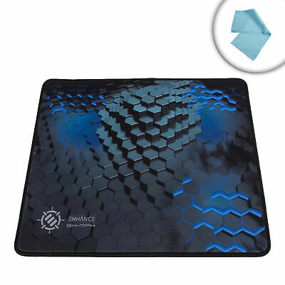 Mouse Pad with Premium Low-Friction Tracking Surface & Non-Slip Rubber Grip