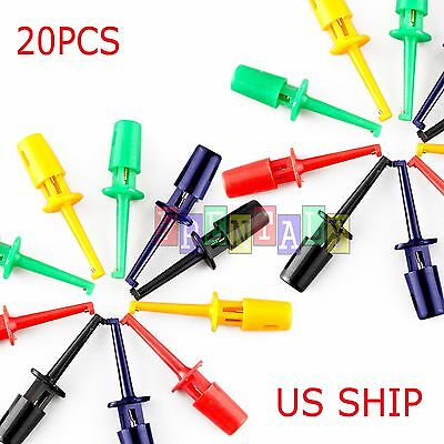 10PCS Wire Kit Test Hook Clip Grabbers Probe For Multimeter, Arduino, SMT/SMD