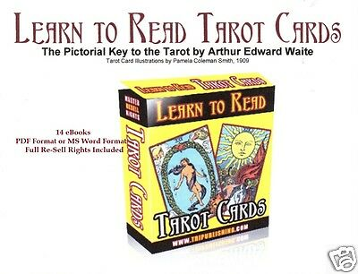CD- Learn to Read Tarot Cards - 13 eBooks (Resell Rights)