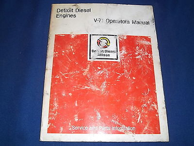 euclid v 71 v71 gm detroit diesel engine maintenance service manual rh picclick com detroit diesel v71 service manual detroit diesel engines v71 service manual