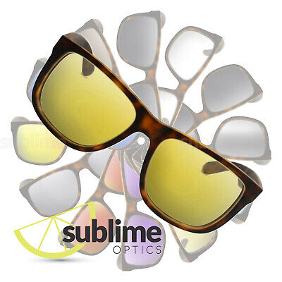 POLARIZED Transparent Yellow Replacement Lenses for Ray Ban RB4165 Justin 54mm