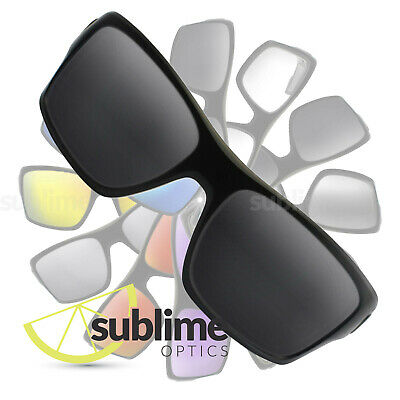 POLARIZED Black (Dark Grey) Replacement Lenses for Oakley Turbine  ~ Charcoal