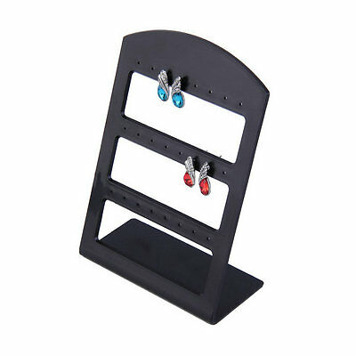 24 Holes Plastic Earring Show Display Rack Countertop Stand Organizer Holder TA