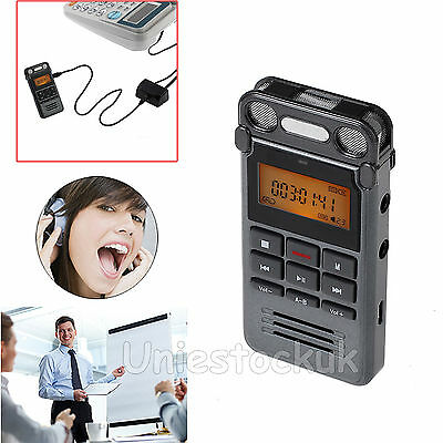 8GB Portable LCD Digital Audio Sound Recorder Dictaphone MP3 Player Rechargeable