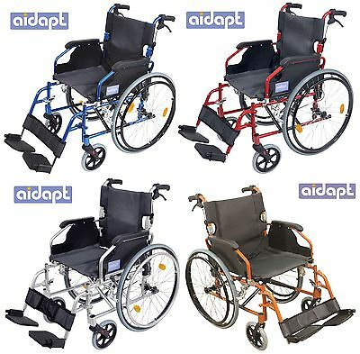 Aidapt Self Propelled Folding Lightweight Transit Wheelchair Footrest Colour