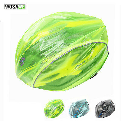 NEW High Visibility Waterproof Bicycle / Bike Helmet Covers Free Size Fits All