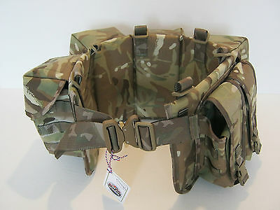 Airborne Webbing Set 4 Pouch With Cobra Buckle  100% British Made - Military