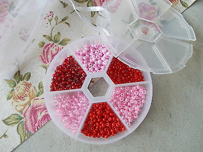Valentines Or Easter Seed Bead Set-  3Mm Seed Beads Starter Kit With Storage Box