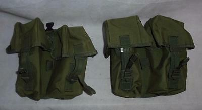 Pair of British Military Green PLCE 90 SA80 Ammo Ammunition Double Pouch Webbing