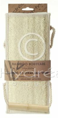Large Hydrea Natural Exfoliating Bamboo And Loofah Back Strap BLBS