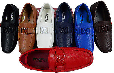 Men's Giovanni Shoes Dress Loafer Faux Leather Casual Slip-On Wedding Prom  New