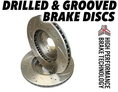 Audi A3 2.0 TDi 140 2003-2012 255mm DRILLED GROOVED BRAKE DISCS Rear