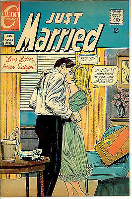 """Just Married #56 (1968 vf- 7.5) Guide: $8.00 (£5.50) """"Love Letter from Saigon"""""""