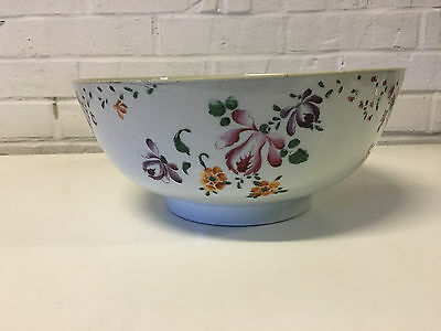 Antique 18th Cent. English Lowestoft Porcelain Chinese Export Style Punch Bowl