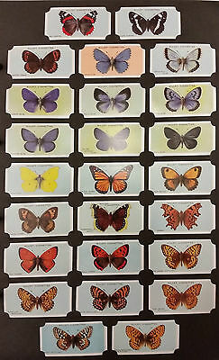 Card Collectors Society Full Repro Set of 50 - Wills - British Butterflies