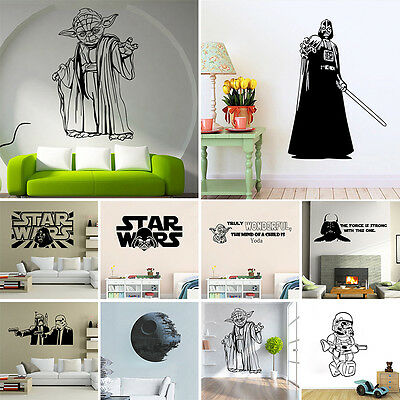 Removable Star Wars Vinyl Art Wall Stickers Mural Decal Home Bedroom DIY Decor
