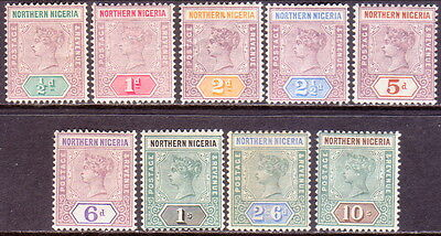 1900 NORTHERN NIGERIA SG #1-9 compl.set MLH CV £600