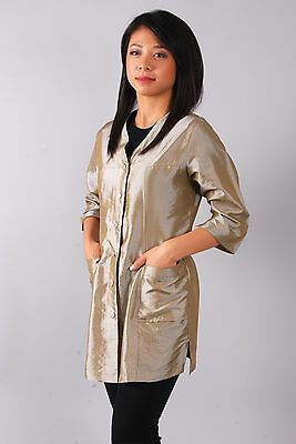Light Beige / Champagne 909 - 3/4 Sleeve Nylon Smock, Water and Hair Repellent