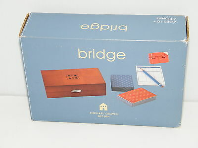 Bridge Set Michael Graves Design Target Exclusive retired Board Game