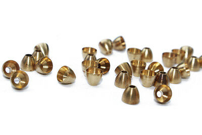 40 Pcs/Lot DIY Gold Brass Cone Head Tying Tube Flies Fly Tying Materials