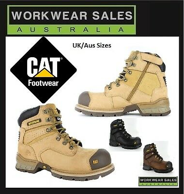 Caterpillar Cat Brakeman Side Zip Mens Steel Toe Work/safety Boots/shoes Durable