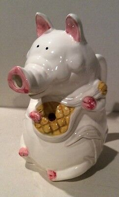 Takahashi of San Francisco  Hand Painted Porcelain Female Pig Creamer Pitcher US