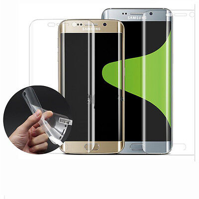 100pcs/lot Clear Full Complted Front Screen Protector for Samsung S6 edge