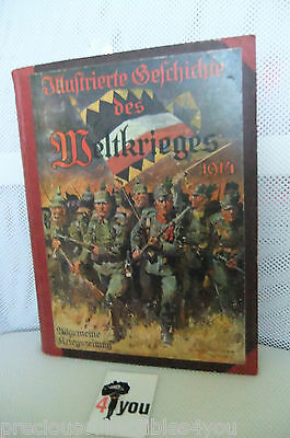 Original GERMAN WW1 WWI Photo Book ILLUSTRATED HISTORY OF WORLD WAR PICTURES 1ST