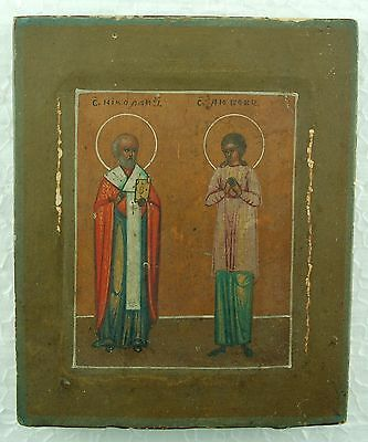 Sehr feine russische IKONE 19.Jh. - Russian ORTHODOX ICON 19th Century