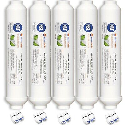 "5 x 10"" 100% Coconut activated carbon Inline water filter (fridge or caravan?)"