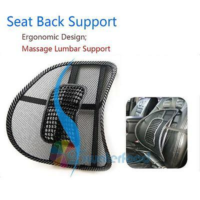Car Cooling Air Mesh Back Rest Massage Pad Lumbar Support Office Chair Car Seat