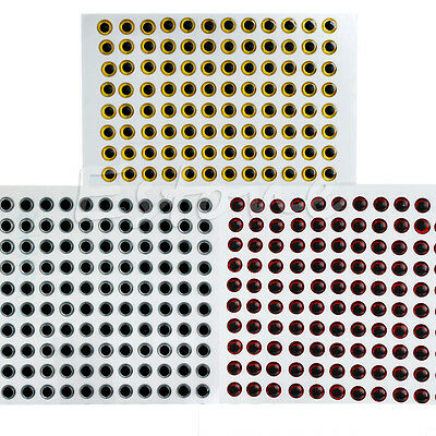 370pcs 6mm 3D Holographic Fishing Lure Eyes For Fly Tying Jigs Craft Dolls Hot