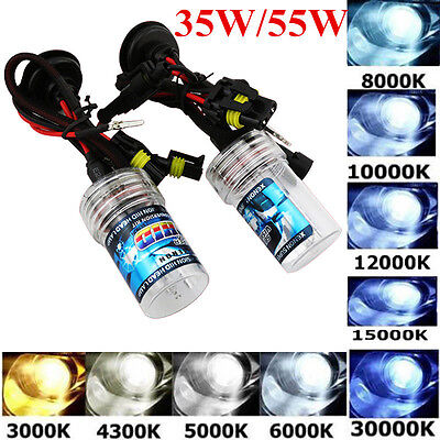1 Pair 35W/55W XENON HID REPLACEMENT BULBS LAMP H1 H3 H7 H13 9006 9007 H11 9005