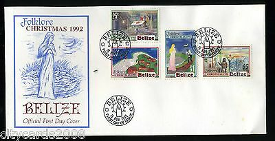 1992 BELIZE  Folklore Christmas  First Day Cover