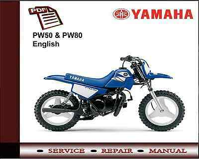 yamaha pw50 & pw80 service repair workshop manual