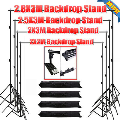 Photography Studio Backdrops Stand Set Photo Screen Background Support Stand Kit