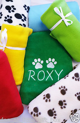 Personalised Pet Blanket Dog Puppy Cat Kitten Hedgehog Embroidered custom Gift